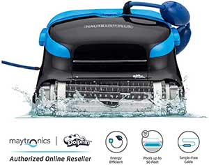 Dolphin Nautilus CC Plus Automatic Robotic Pool Cleaner with Easy to Clean Large Top Load Filter Cartridges and Tangle-Free Swivel Cord, Ideal for In-ground...